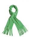 Fleece sjaal met franjes lime groen