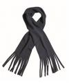 Fleece sjaal met franjes navy